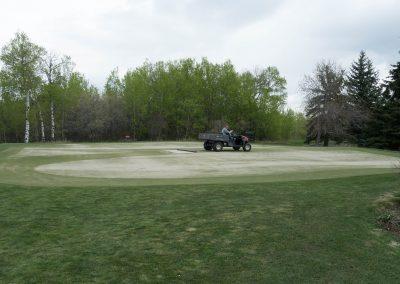 Matting sand into aeration holes