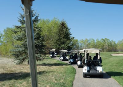 Olds College Turf program out on the course for education on  Audubon