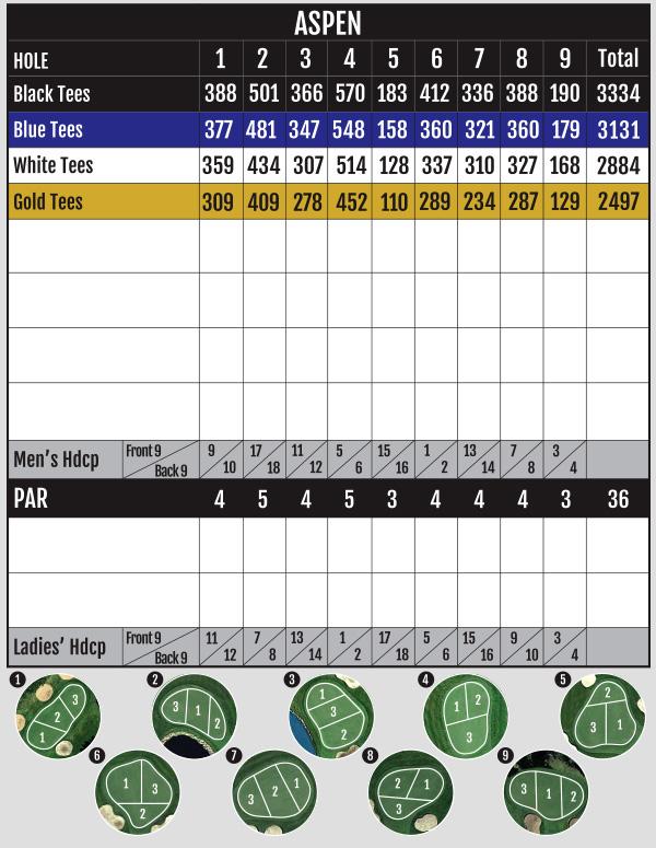 Innisfail Golf Club - Aspen Scorecard - Innisfail, Alberta