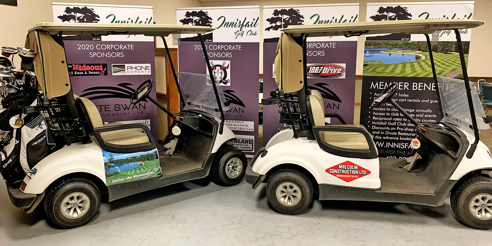 Premium Power Cart Decaling - Corporate Advertising - Innisfail Golf Club